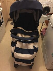 Blue and White Bambii Pushchair