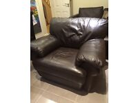 Leather chair ( Italian brown leather)