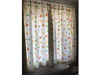 Jungle animal nursery curtains & light shade