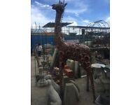Extra tall metal Giraffe