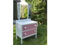 Shabby chic dressing table with mirrors