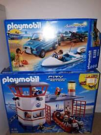 Playmobil coast guard station and summer fun set