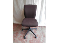 Brown fabric swivel chair (delivery)