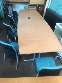 Conference Table & 10 Chair Package