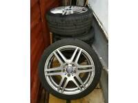 """Mercedes E Class Orginal 18"""" Alloys"""