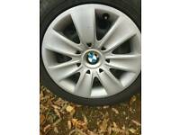 4 BMW 3 Series wheels and winter run flat tyres