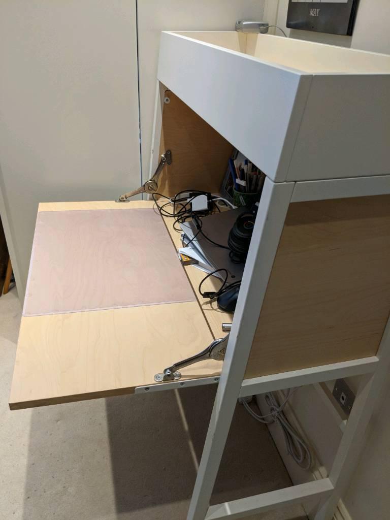 Compact Desk Bureau Ikea Ps 2014 White Birch Veneer In Chelsea London Gumtree