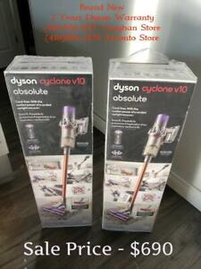 Store Sale - DYSON V10 ABSOLUTE Brand new In Box & Sealed, FULL Warranty From DYSON.