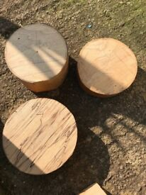 Various pieces of wood suitable for wood turning