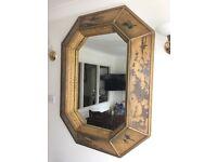 Oriental style extra large mirror