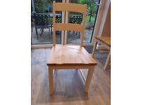 6 Laura Ashley Solid Wood Dining Chairs