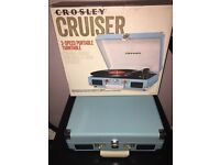 CROSLEY RECORD PLAYER TURNER TABLE BLUE