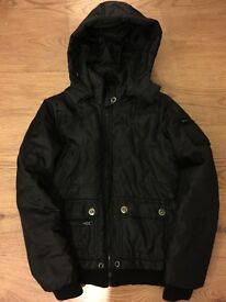 Warm and comfy black jacket lady size S
