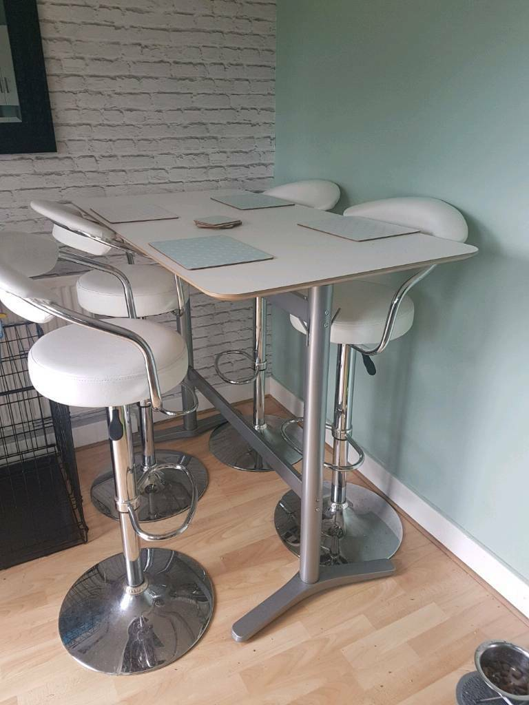 breakfast bar table and 4 stools | in bramley, west yorkshire