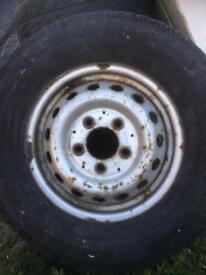 tyre and rim 225 / 70 / 15 off mercedes sprinter van