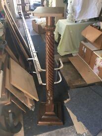 Solid Mahogony Pedestal with Barley Twist design