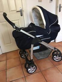 Silver Cross Pram, stroller, Moses basket and car seat