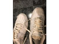 White air forces size nine