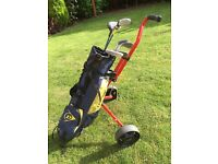 Youth golf set with trolley