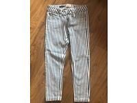 Striped skinny jeans trousers size 8/10