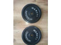 Marcy 2 x 7.5kg Standard 1, Cast Iron Weight Plates