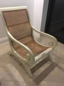 Rare wicker chair in need of restoration