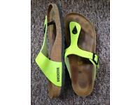 Lime green Birkenstock sandals size 8/40