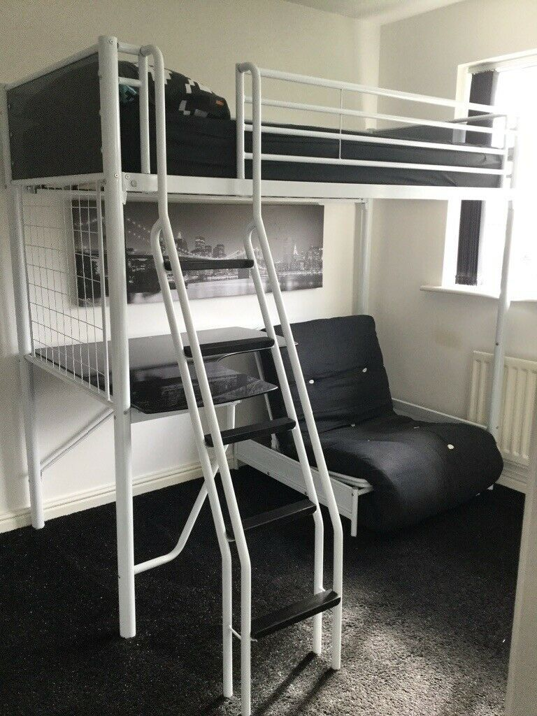 Bunk Bed With Futon Desk Mattress Instructions Cosmic Reduced In Kidsgrove Staffordshire Gumtree