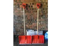 2 X Snow Shovels For Sale