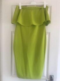 Lime boohoo dress size 12