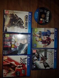 6 Ps4 games £5 each