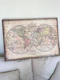 World map canvas £5