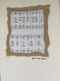 Handmade Christmas Cards - Give my heart