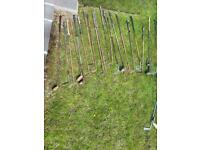 Vintage Wooden Shafted Golf Clubs