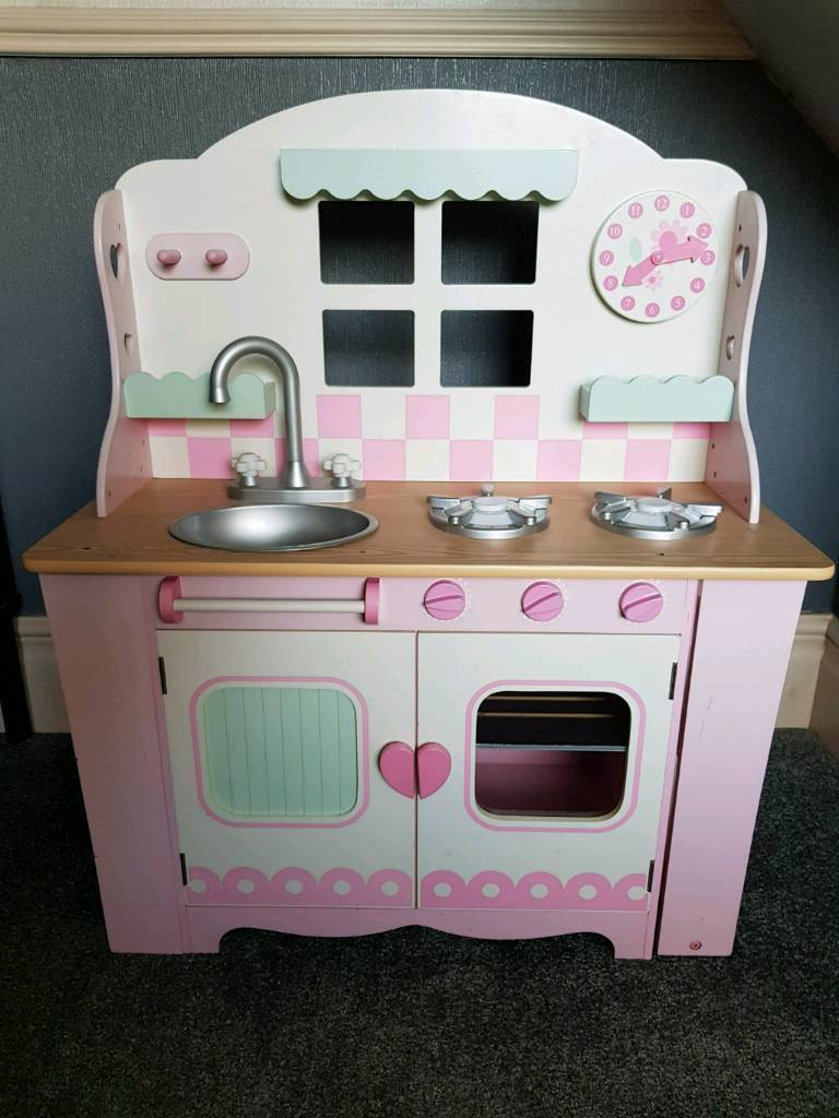 wooden kitchen early learning centre play kitchen for kids childrens toy - Kitchen For Kids