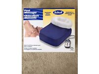 Scholl Foot Massager Large Blue Slipper Style, NEW