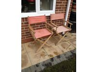 2x directors chairs, in need of tlc