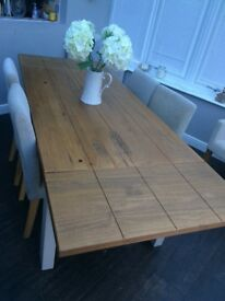 Next Hartford painted extending dining table