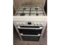BEKO Freestanding double oven Gas Cooker BDVG 697WP with glass lid / splashback Excellent Condition