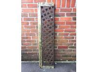 Cast iron garden back of bench/wall climber