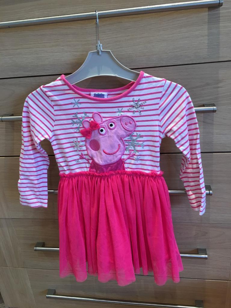 Peppa pig dress by George at Asda aged 2/3 years