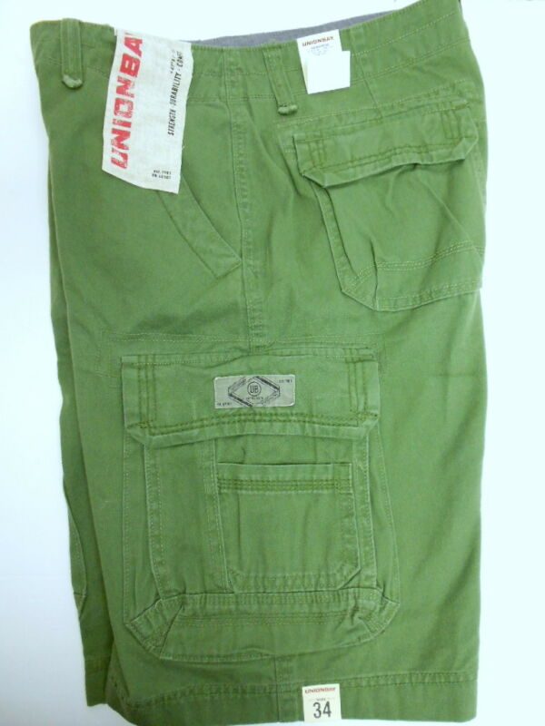 New Mens Unionbay Rugged Distressed Look Cotton Cargo Shorts U PICK COLOR & SIZE