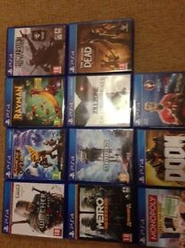 PS4 games bundle excellent condition make great Christmas present