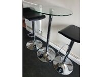 tall dining table and 2 stools