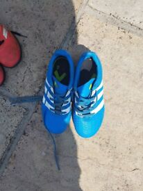 Boys blue adidas football boots (moulds)