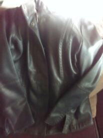 Size 14 lady's leather coat+ tops