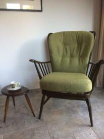 Pair of Ercol Springtime Chairs. Newly upholstered.