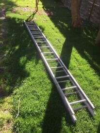 Long aluminium ladder