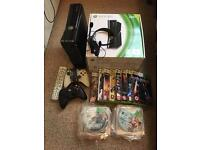 Xbox 360, 48 games, 2 controllers, etc