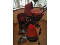 Cybex priam pram chassis carrycot and luxe seat with extras